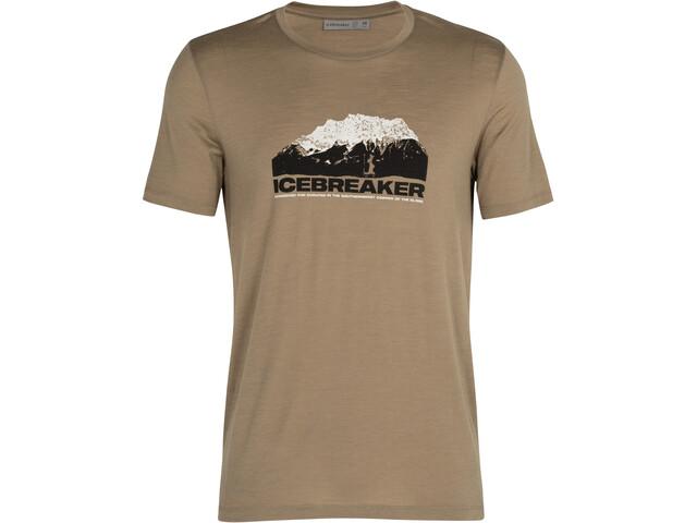 Icebreaker Tech Lite SS Crew Shirt Icebreaker Mountain Men, flint